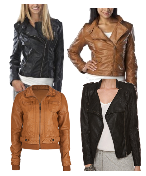 Light Brown Faux Leather Jacket | Outdoor Jacket